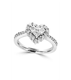 Effy® Bouquet Collection 0.84 Ct. T.W. Diamond Heart Ring