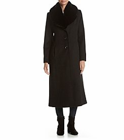 Forecaster Faux Fur Collar Maxi Coat