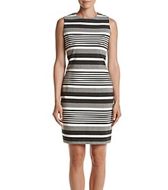 Calvin Klein Ponte Striped Sheath Dress