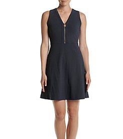 MICHAEL Michael Kors® Zip Neckline Fit and Flare Dress