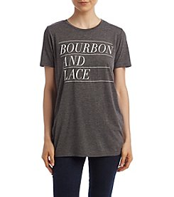 Doe® Bourbon And Lace Screen Tee