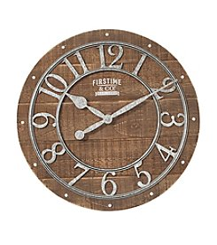 FirsTime Rustic Wood Clock