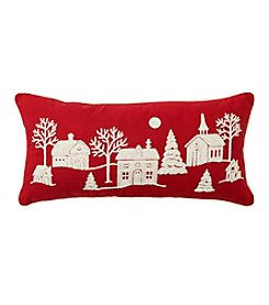 Living Quarters Peaceful Village Scene Pillow