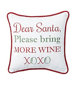 Living Quarters Dear Santa Bring Wine Pillow