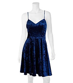 A. Byer Velvet Strappy Party Dress