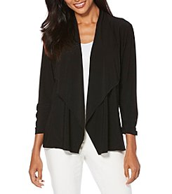 Rafaella® Ruched Cuffs Cardigan
