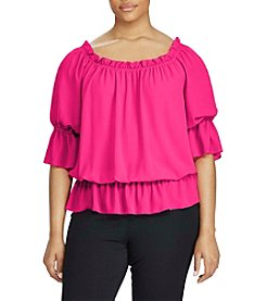 Lauren Ralph Lauren® Plus Size Georgette Off-The-Shoulder Top