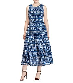 Lauren Ralph Lauren Plus Size Sleeveless Maxi Dress