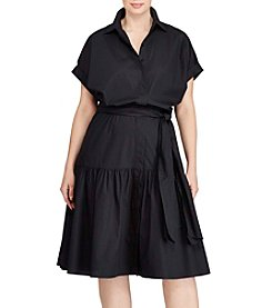 Lauren Ralph Lauren® Plus Size Cotton Midi Shirt Dress