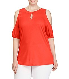 Lauren Ralph Lauren® Plus Size Cutout Jersey Top