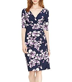 Lauren Ralph Lauren® Faux-Wrap Floral Printed Jersey Dress