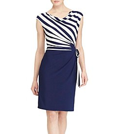 Lauren Ralph Lauren® Striped Top Wrap Dress