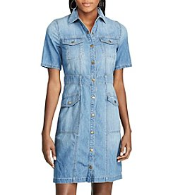 Chaps® Denim Shirt Dress