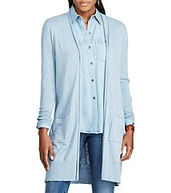 Chaps® Open-Front Cotton-Modal Cardigan
