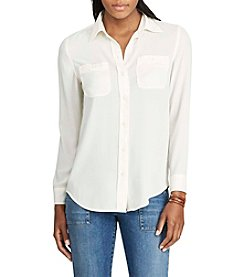 Chaps® Georgette Button-Up Shirt
