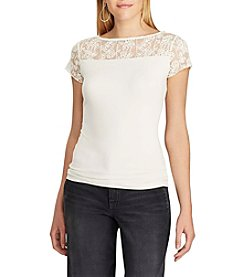 Chaps® Lace-Trim Jersey Tee