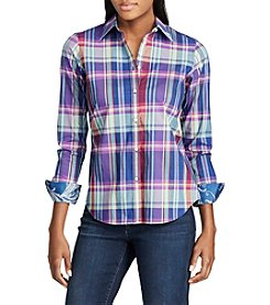 Chaps® Non-Iron Plaid Cotton Shirt