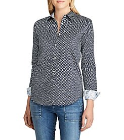 Chaps® Non-Iron Polka-Dot Cotton Shirt