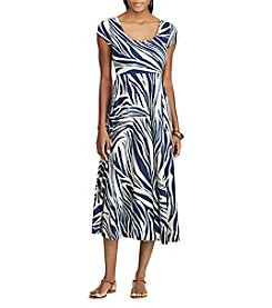 Chaps® Zebra-Print Cotton Dress