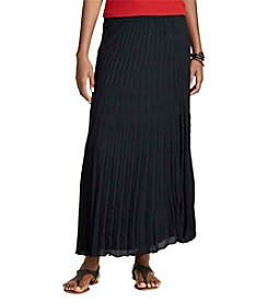 Chaps® Pleated Georgette Skirt