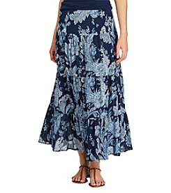 Chaps® Tiered Floral Maxi Skirt