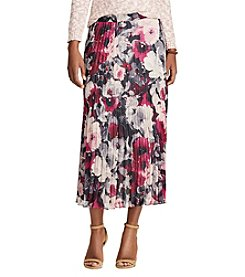 Chaps® Floral Georgette Pleated Skirt