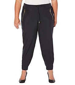 Rafaella® Plus Size Cuffed Tencel Jogger Pants