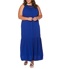 Rafaella® Plus Size Solid Maxi Dress