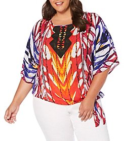 Rafaella® Plus Size Caftan Sleeve Top
