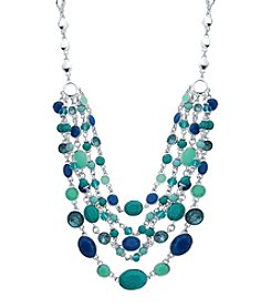 Nine West® Adjustable Multi Layered Statement Necklace