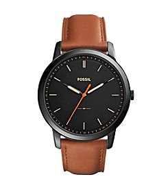 Fossil® The Minimalist Slim Three-Hand Leather Watch