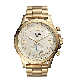 Fossil® Q Nate Stainless Steel Hybrid Smartwatch