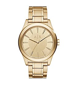 A|X Armani Exchange Men's Goldtone Dial Watch