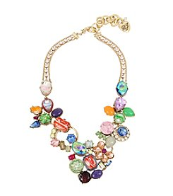 Betsey Johnson® Statement Stone Cluster Necklace