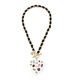 Betsey Johnson® Chain And Ribbon Pendant Necklace