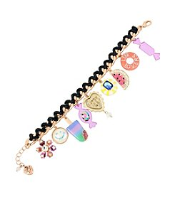 Betsey Johnson® Multi-Charm Statement Bracelet