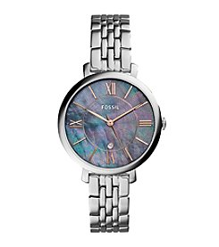 Fossil® Women's 36mm Jacqueline Three-Hand Date Bracelet Watch