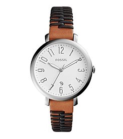 Fossil® Jaqueline Leather Strap Watch