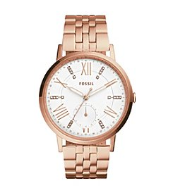 Fossil® Gazer Multifunction Rose Stainless Steel Watch