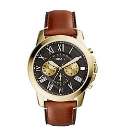 Fossil® Grant Chronograph Leather Watch