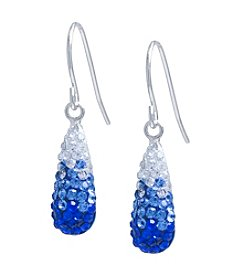 Athra Crystal Teardrop Earrings