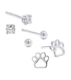 Athra Paw Stud Earrings Set