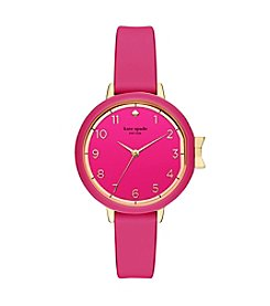 kate spade new york® Park Row Silicone Strap Watch