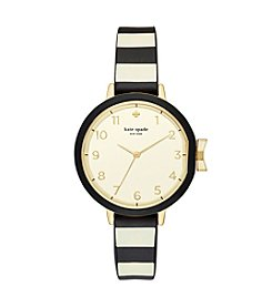 kate spade new york® Women's Park Row Silicone Strap Watch