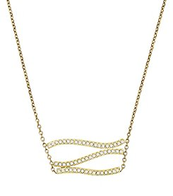 Michael Kors® Wonderlust Goldtone Pavé Pendant Necklace