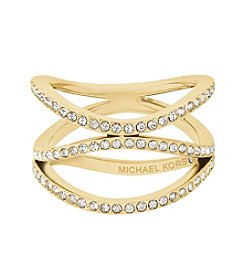 Michael Kors Wonderlust Goldtone Pavé Ring