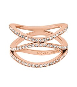 Michael Kors Wonderlust Rose Goldtone Pavé Ring