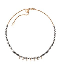 Michael Kors® Modern Classic Faux-Pearl & Crystal Slider Choker Necklace