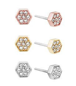Michael Kors® Nugget Hexagon Stud Earrings Set