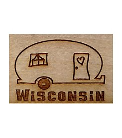 Second Nature by Hand Wisconsin Camper Graphic Magnet
